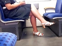 Candid Mature Gams With Longer Crimson Toenails