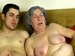 OmaPass Young boy poke very aged granny with her girlfriend