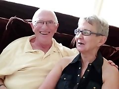 Elderly hubby fucked with college girl man