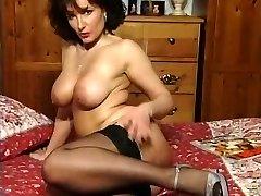 Hot Brunette Busty Milf Teasing in various garments V Sexy!
