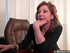 Office grandmas Amanda and Penny strip off and have fun