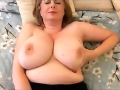 Facial big tits wank