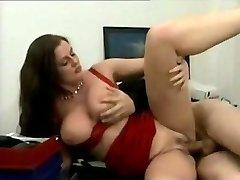 Sensuous German Cougar fucked in her office