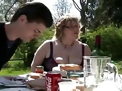 BBW BBQ Double Penetration Facial outdoor