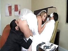 Alanah Rae is a molten bride who gets a giant wood for her pleasure
