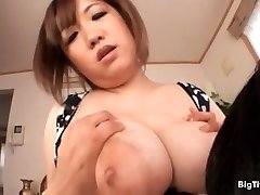 Busty asian breezy gets her xxl tits