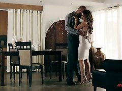 Tall well endowed stud Karlo Karrera gives this super hot babe a excellent dicking