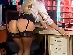 Dannii as Secretary in Silky Lace-Up