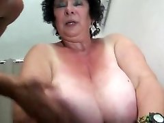 FRENCH BBW 65YO Grannie OLGA FUCKED BY 2 Dudes - DP