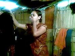 Splendid Desi Bhabhi Heads Nude First Shy to Show