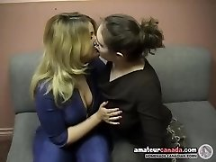 Chubby geek femdom uses strapon with kissing ditzy bbw
