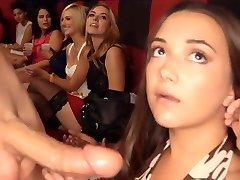 Girls Suck Immense Penis at CFNM Party