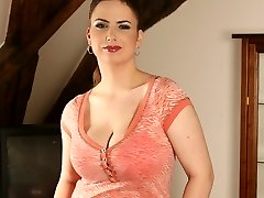 beautiful girl with huge natural bosoms...