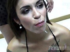 Premium Bukkake - Silvana swallows 58 big mouthful cum-shots