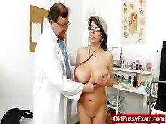 Huge inborn melon size bumpers at obgyn physician