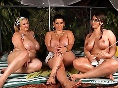 Angelina Castro OutDoors Oily 3some and Hookup Stories!