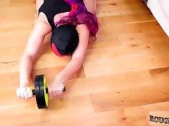Fucks big milky dick Bootie-Slave Yoga