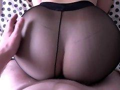 Dame with big ass smashing in pantyhose.