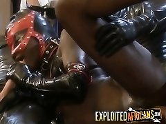 Black babe licking long fat cock
