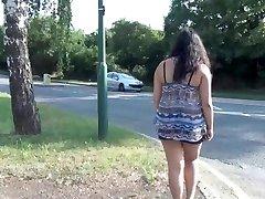Indian first-timer bbw Kikis public flashing and outdoor voyeur masturbation wi