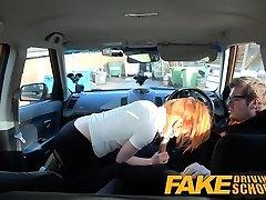 Faux Driving School Ultra-cute redhead Ella Hughes