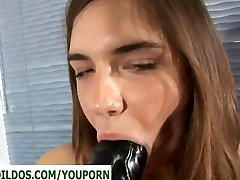 Nubile with a huge black brutal fuck stick