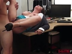 Giant orbs and cool MILF gets her tight pussy hammered by Shawn