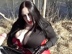 Biz Diva Inhaling Outdoor - Cum In Her Face