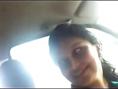 Desi Office Gf with Boss in car