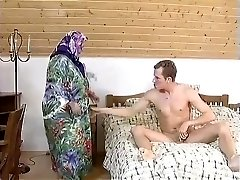 FAT Plumper GRANNY MAID FUCKED HARDLY IN THE Room