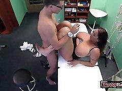 Immense tits pornstar hardcore with cumshot