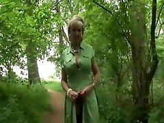 British Milf Takes A Walk In The Woods