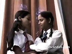 Indian School Girls Filmed By Teacher In Girl-on-girl Fucky-fucky