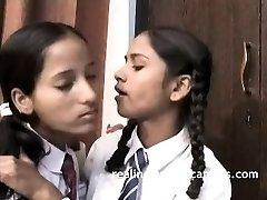 Indian School Girls Filmed By Teacher In Lesbo Sex