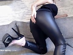 NEUES Vid!! LEDER LEGGINGS