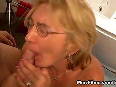 Crazy pornstar in Astounding Jizz Flows, Blonde sex scene