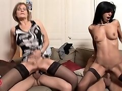 French Cougar swingers foursome