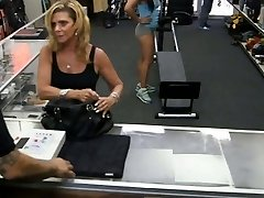 Gym trainer selling her stuff and poked at the pawnshop