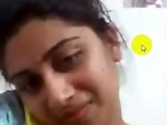 desi collage girl getting off on Skype for her boyfriend