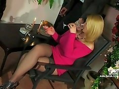 Anal date with buxom ash-blonde Russian girl