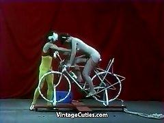 Beautiful Girl is Riding a Intercourse-bike