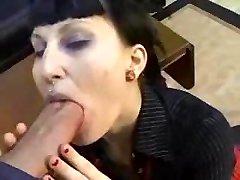 Goth Goth Girl Gets Banged My Huge Shaft