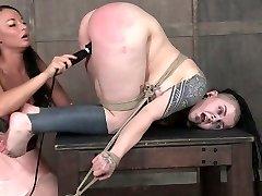Kinky mistress punishes fat pussy of chubby punk slut Luna LaVey