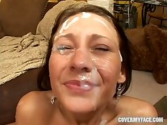 18 year aged JESSICA VALENTINO gang-fuck - Cover My Face