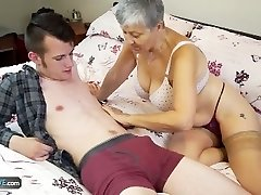 Old lady Savana humped by student Sam Bourne by AgedLove