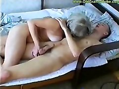 Hungry middle-elder witch fucks highly young, but rock hard and hard dick