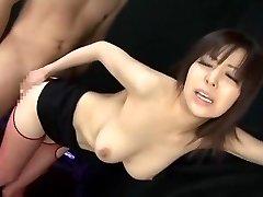 Incredible Chinese whore Harumi Asano in Ultra-kinky Stockings JAV clip