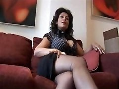 Mature big tits Danica talks filthy as she strips and taunts
