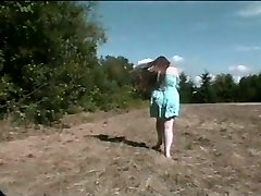 Chubby woman doing it in the woods