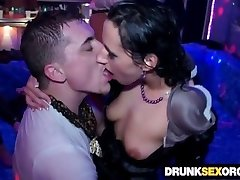 Filthy drunken sluts fucking at the soiree